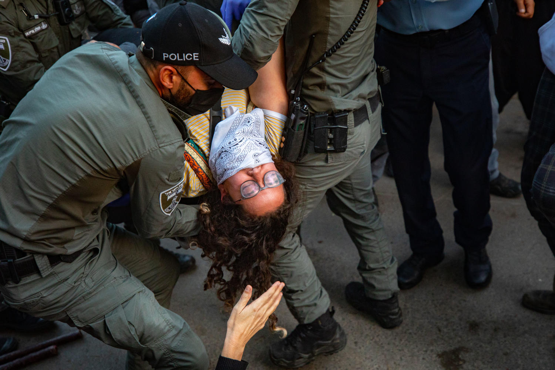разгон демонстрации против Нетанияху