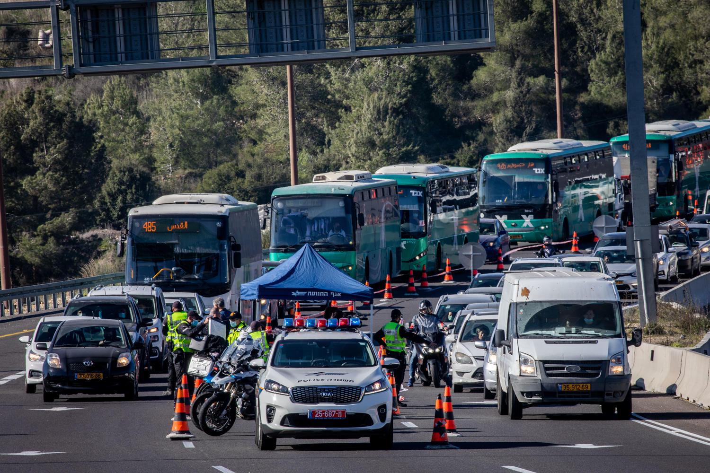 «блокадная» пробка на 1 шоссе 8 января