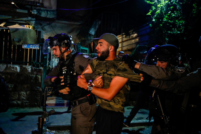 полиция в квартале Шейх Джарах, 5 мая