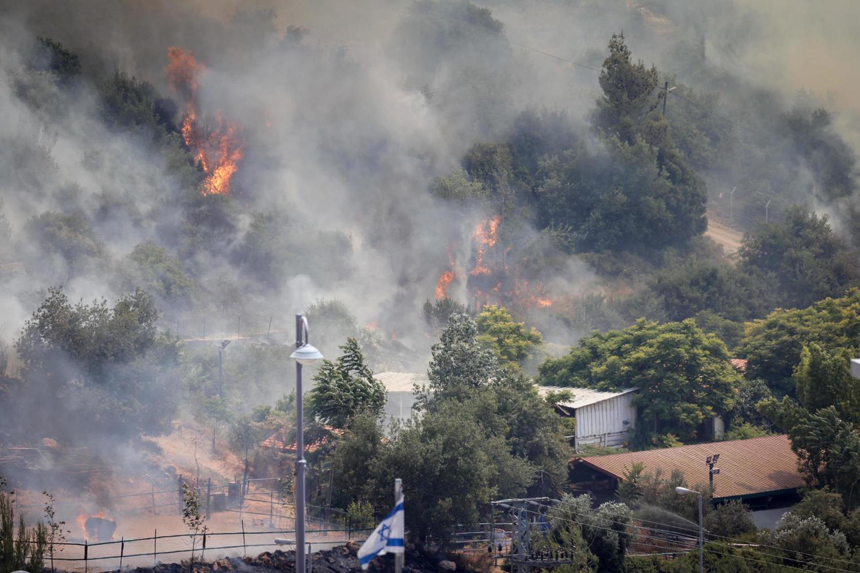 Сильный лесной пожар  под Иерусалимом, эвакуированы жители Цур Адасса