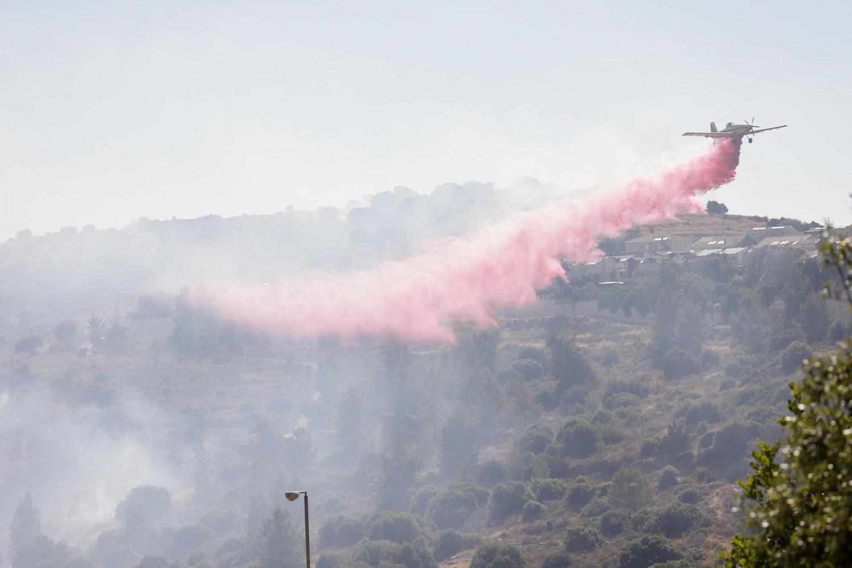 Возобновился лесной пожар в Иерусалимских горах. Огонь приближается к Бейтар-Илиту