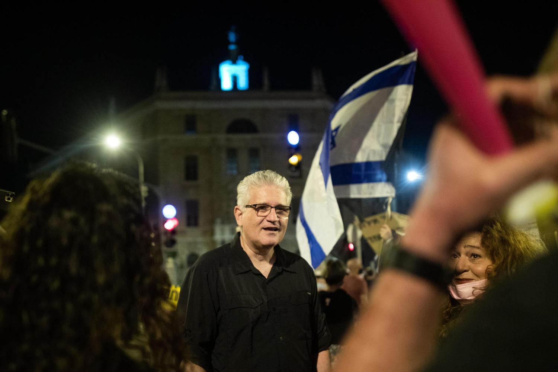Эли Авидар на демонстрации