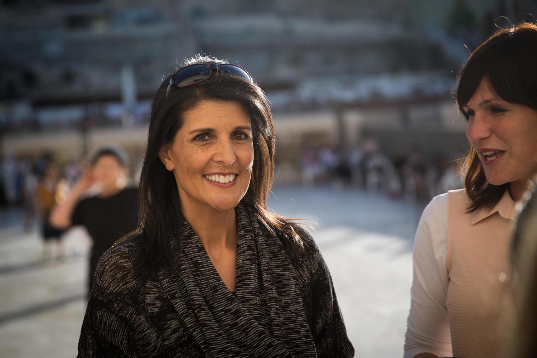 Ники Хейли во время визита в Израиль в 2017 году.