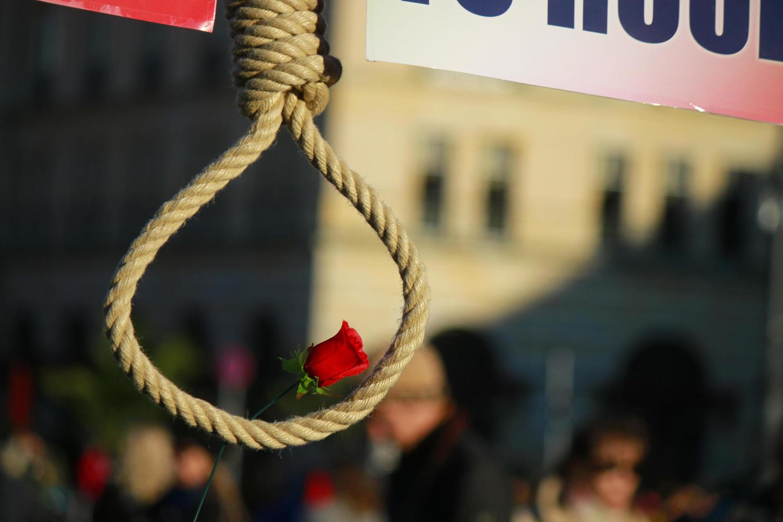 демонстрация против политических казней в Иране