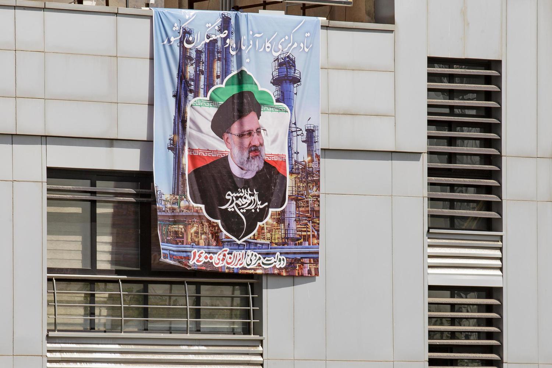 предвыборный плакат Ибрагима Раиси в Тегеране