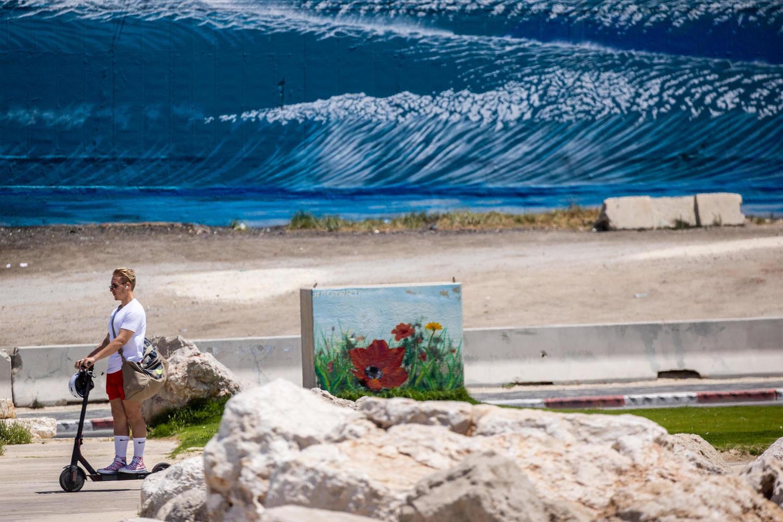 на пляже Ашкелона