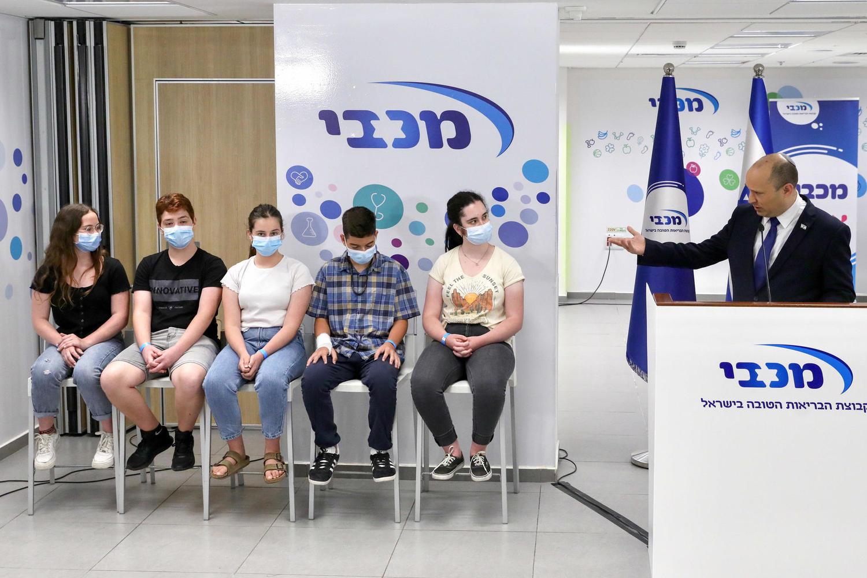 пресс-конференция в центре вакцинации в Холоне