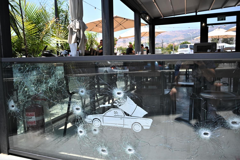 графии ресторана «Квиш 90» после обстрела