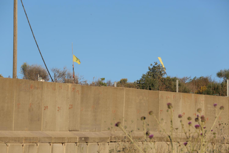 Забор и флаги «Хизбаллы» на границе с Ливаном.