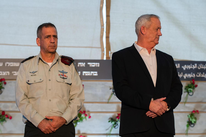 Начальник Генштаба Авив Кохави и министр обороны Бени Ганц.