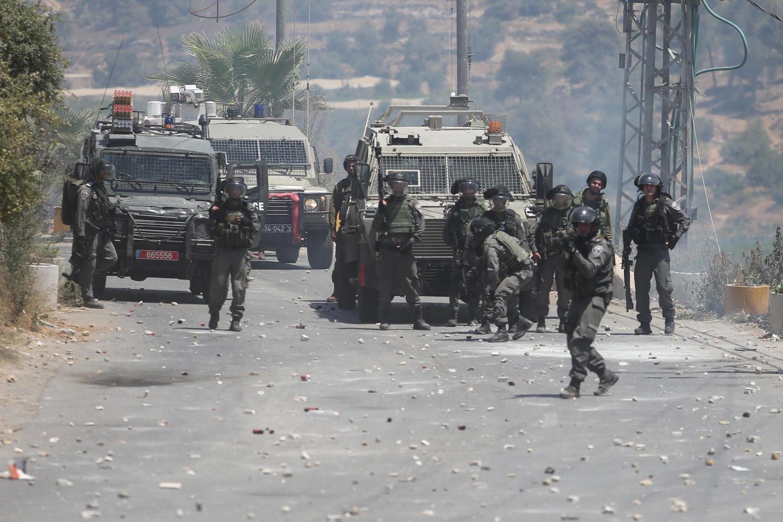 Силы ЦАХАЛ возле Бейт-Уммара
