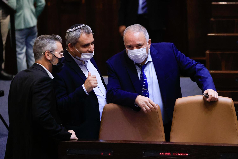 Либерман во время голосования по бюджету