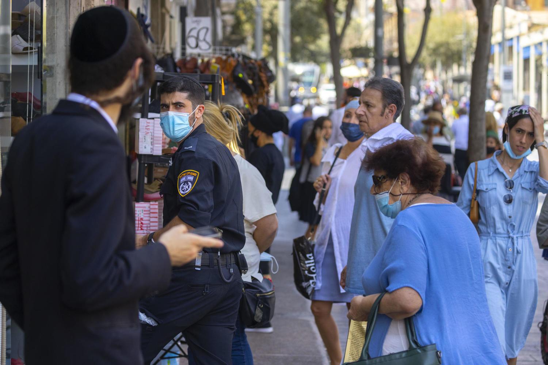 полицейская проверка на улице Иерусалима