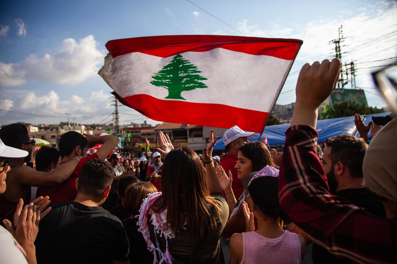 антиправительственная демонстрация в Ливане, октябрь 2019 г.