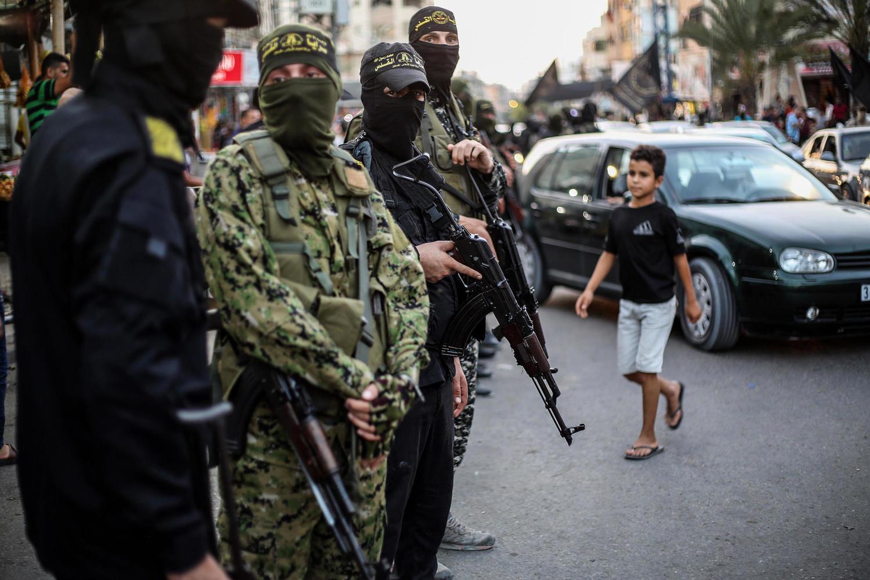 демонстрация «Исламского джихада» в Газе, 9 сентября