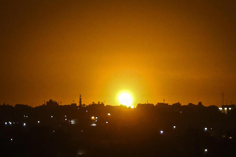 Атака израильских ВВС в Секторе Газа.