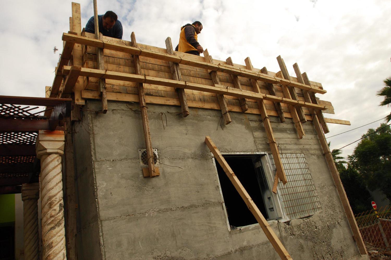 строительство «мамада» в Сдероте