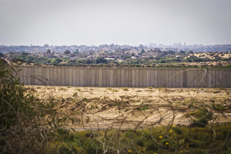 Стена на границе с Сектором Газа.