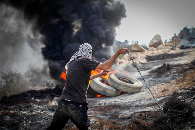 демонстрант из деревни Бейта, 27 августа 2021