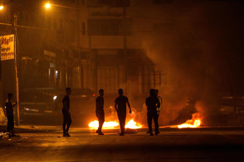 палестинские беспорядки возле гробницы Иосифа в канун Суккота-2019