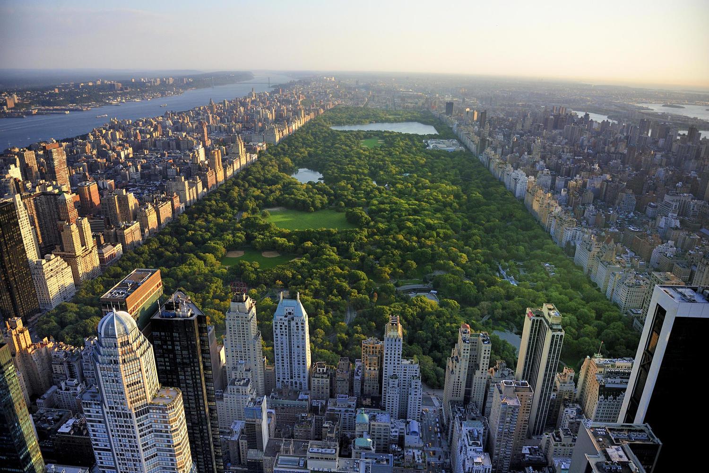 Центральный парк в Нью-Йорка.
